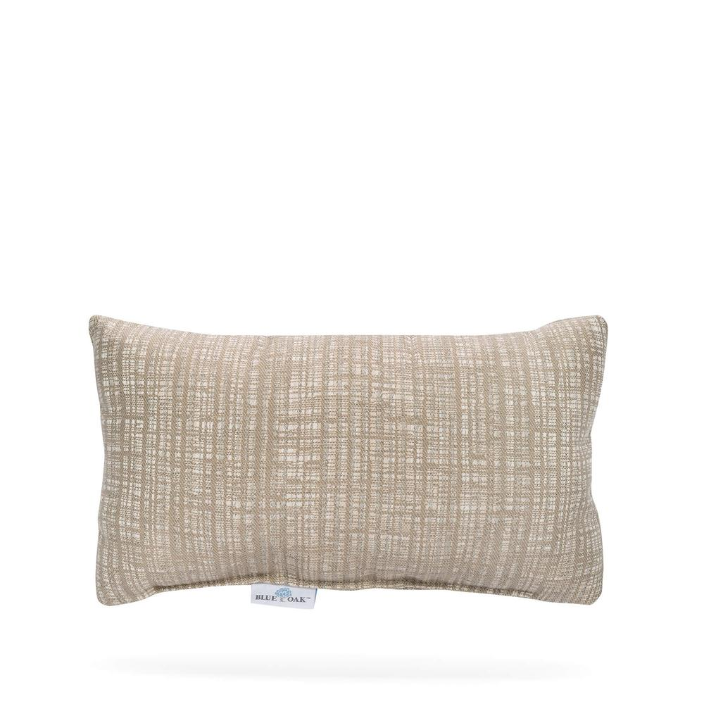 BLUE OAK Outdura Mia Dune Rectangular Lumbar Outdoor Throw Pillow (2-Pack)