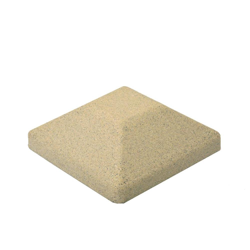 5 in. x 5 in. Beige Composite Square Fence Post Cap