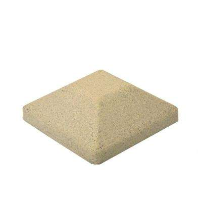 5 in. x 5 in. EcoStone Beige Composite Square Fence Post Cap