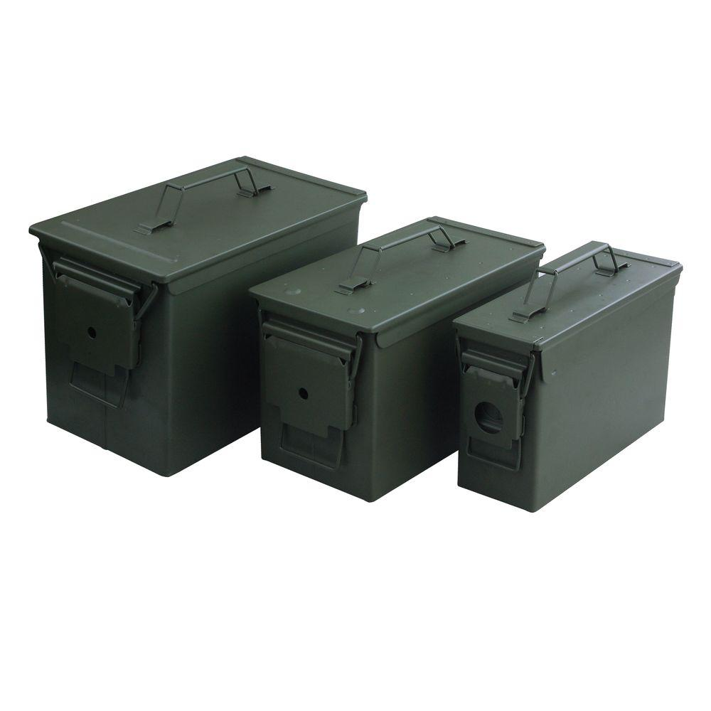 MAGNUM Airtight Water-Resistant Metal Ammo Cans (3-Pack)-53540 - The Home Depot  sc 1 st  The Home Depot & MAGNUM Airtight Water-Resistant Metal Ammo Cans (3-Pack)-53540 ... Aboutintivar.Com