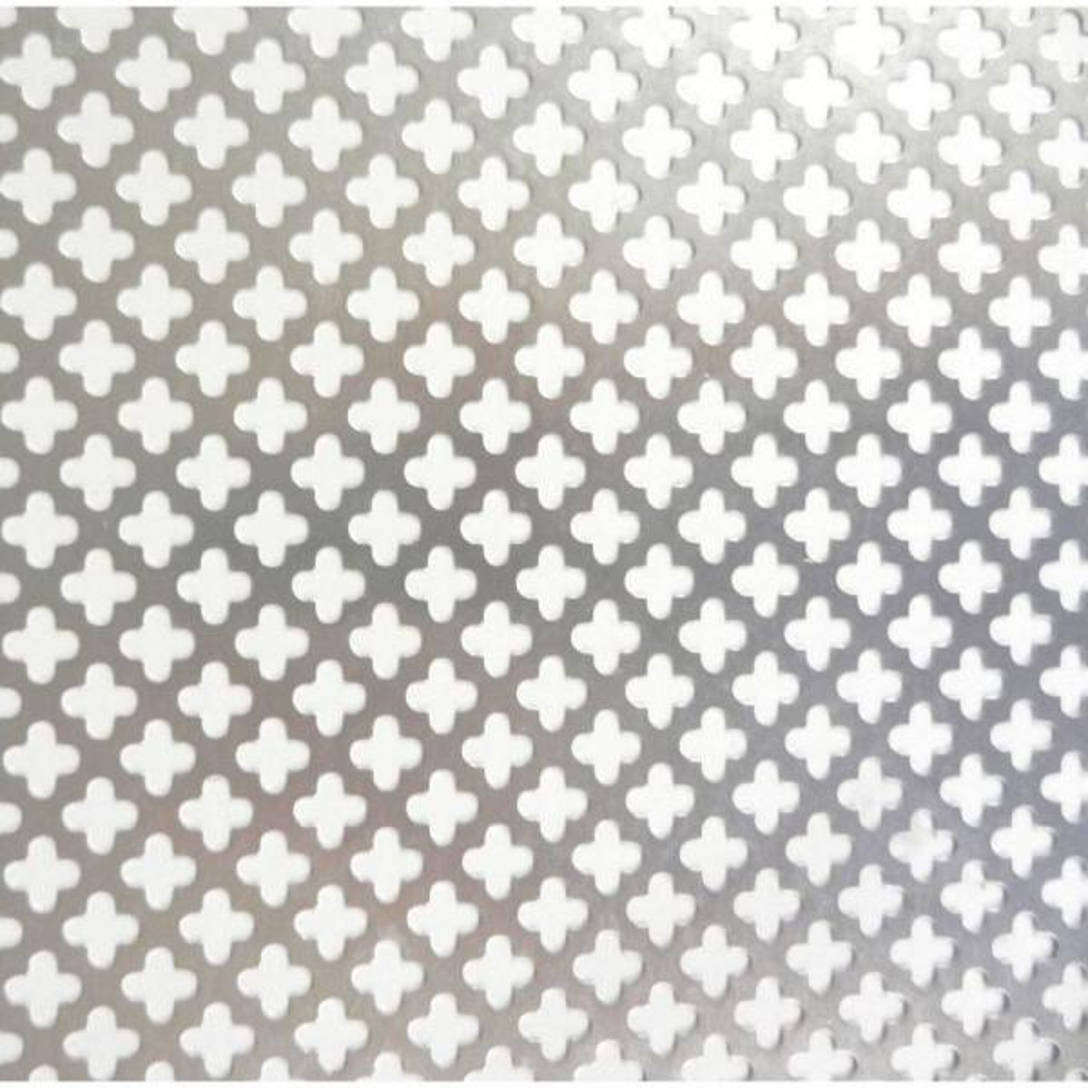 24 in. x 36 in. Cloverleaf Aluminum Sheet in Silver