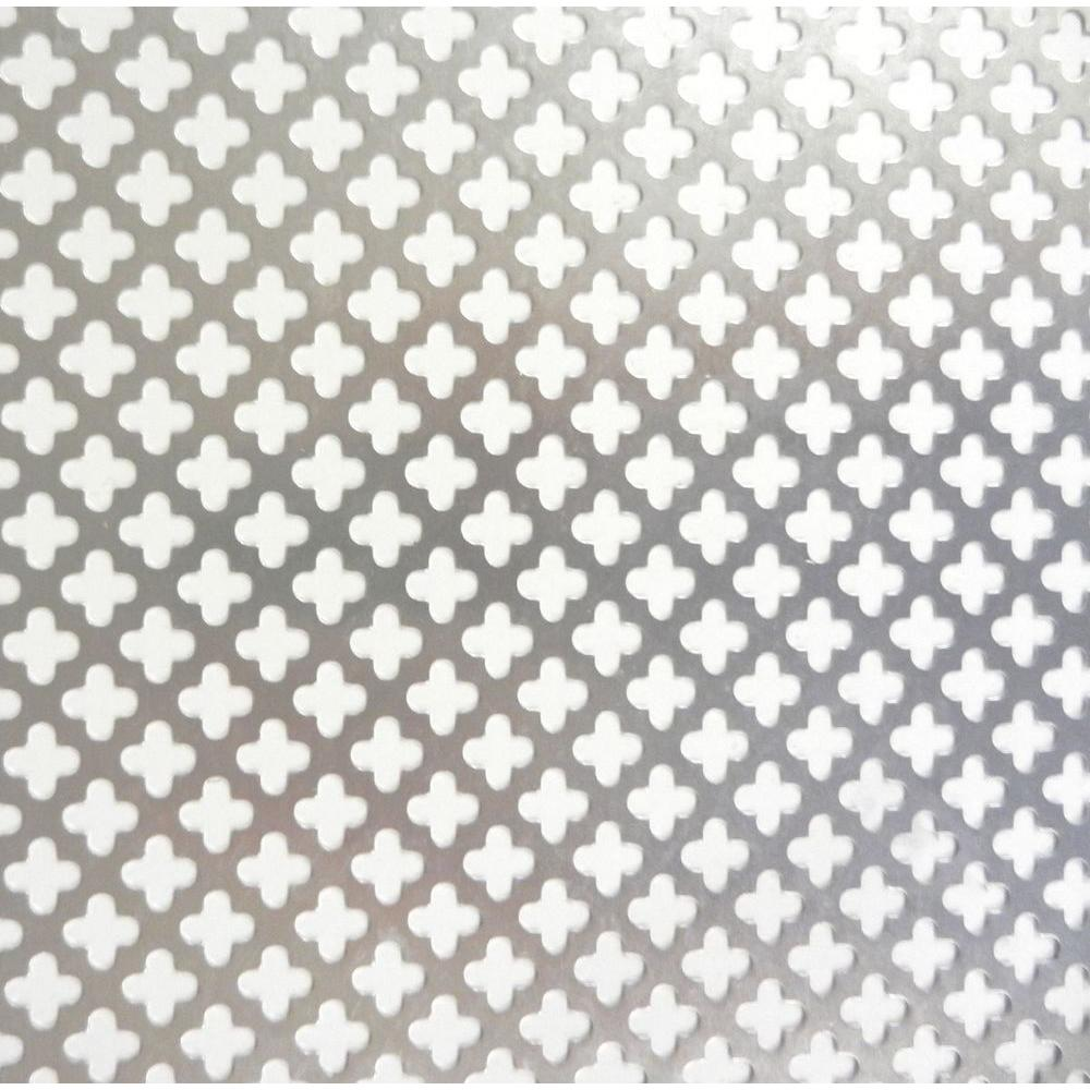 M D Building Products 36 In X 36 In Cloverleaf Aluminum Sheet Silver 57166 The Home Depot