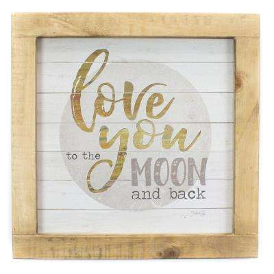 "14.5 In. W x 14.5 In. H ""Moon and Back"" by Penny Lane Framed Printed Art"