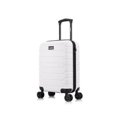 Trend 20 in. White Lightweight Hardside Spinner Carry On