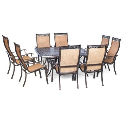 Legacy 9-Piece Patio Outdoor Dining Set with Large Square Table