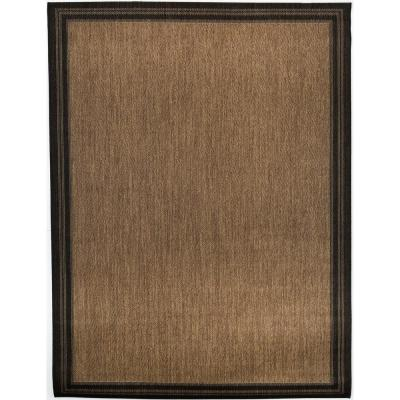 Border Black Brown 2 ft. x 3 ft. Indoor/Outdoor Area Rug