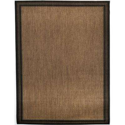 Border Black Brown 1 ft. 11 in. x 2 ft. 11 in. Indoor/Outdoor Area Rug