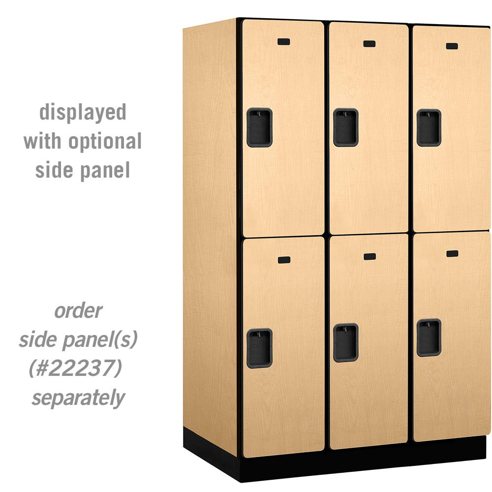 Salsbury Industries 22000 Series Double Tier 24 In D 6 Compartments Extra Wide Designer Wood