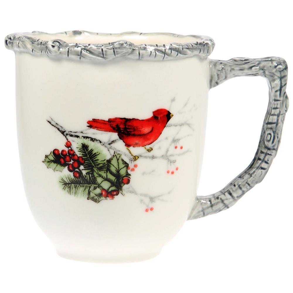 17 fl. oz. Round Cardinal Holly Mug