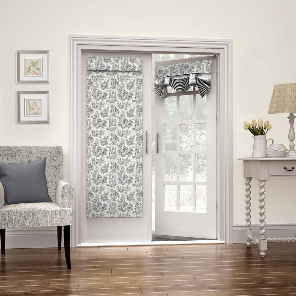 26 in. W x 68 in. L Charmed Life French Door Window Panel in Onyx
