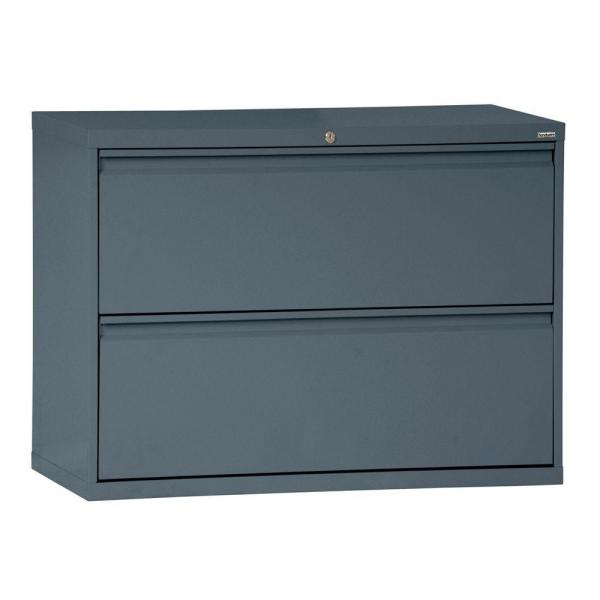 Sandusky 800 Series 42 in. W 2-Drawer Full Pull Lateral File
