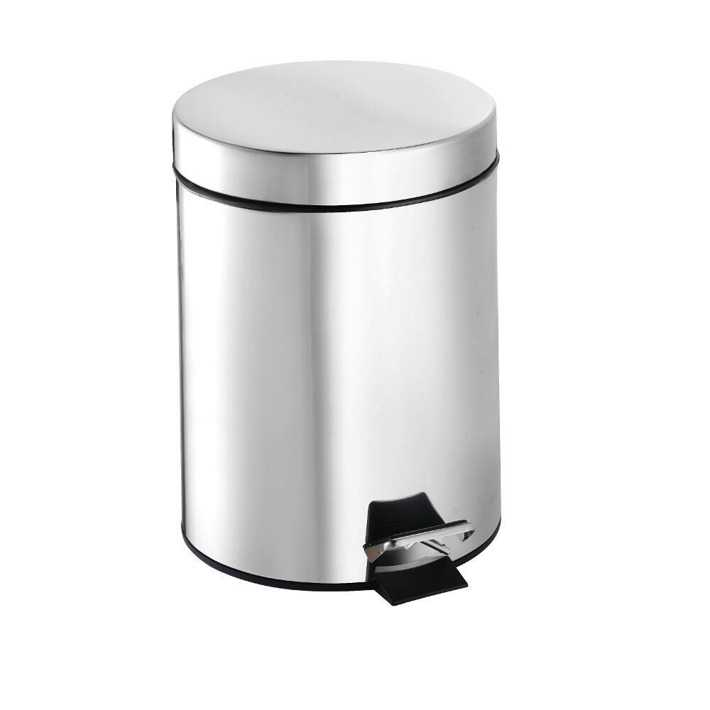 Croydex Croydex 5 Litre Pedal Bin in Chrome, Grey