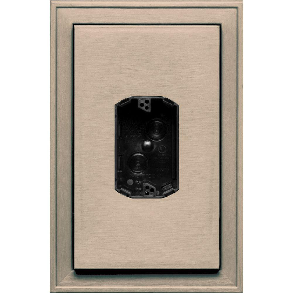 8.125 in. x 12 in. #069 Tan Jumbo Electrical Mounting Block