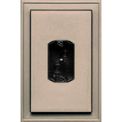 8.125 in. x 12 in. #069 Tan Jumbo Electrical Mounting Block Centered
