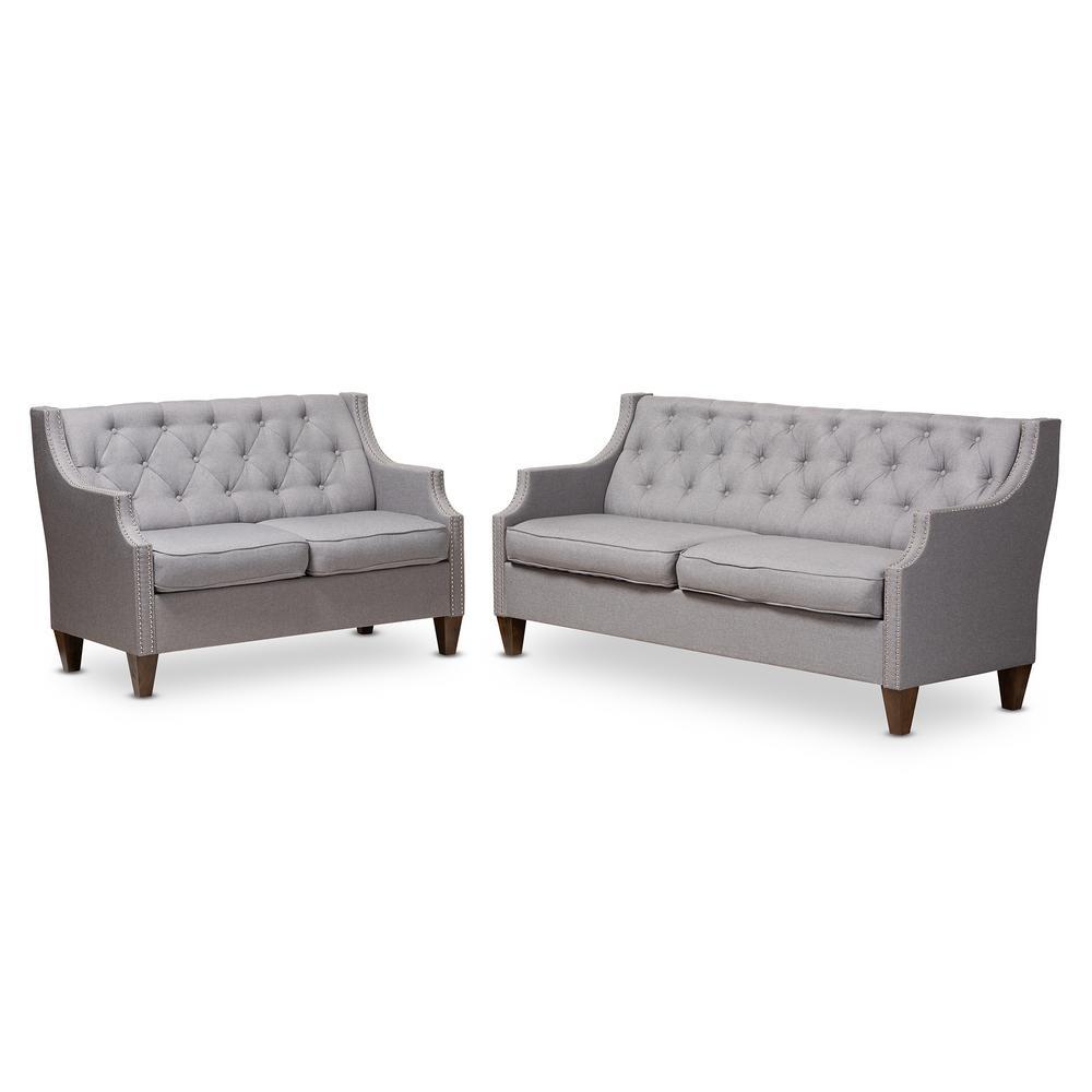 Celine 2-Piece Gray Living Room Set