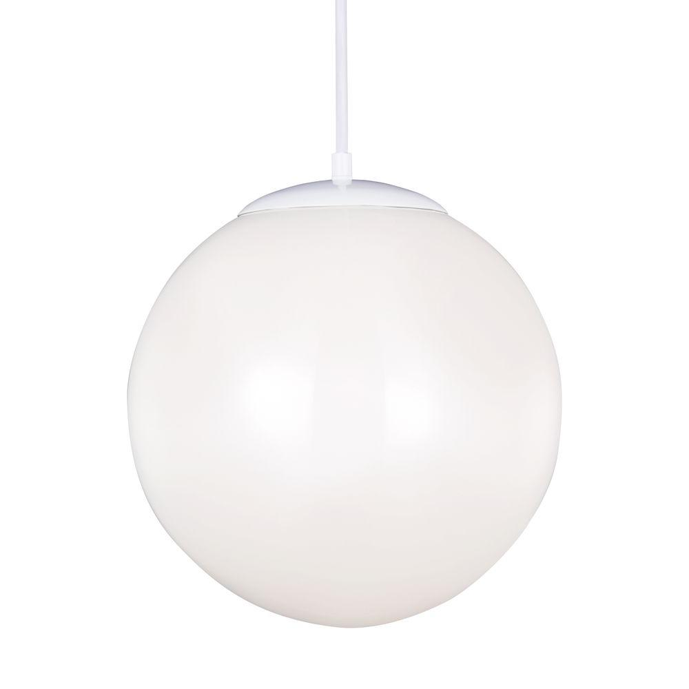 seagull pendant lighting. Sea Gull Lighting Hanging Globe 1-Light White Pendant Seagull