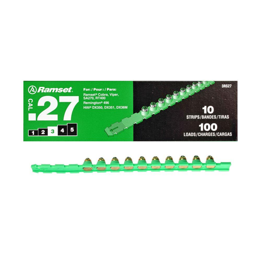 Ramset 0.27 Caliber Green Strip Loads (100-Pack)