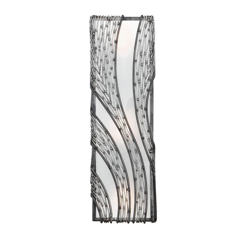 Varaluz Flow 3-Light Steel Vertical Sconce