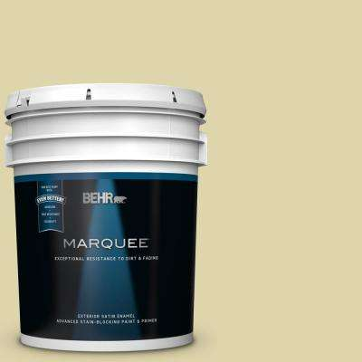 5 gal. #MQ4-40 Primitive Green Satin Enamel Exterior Paint and Primer in One