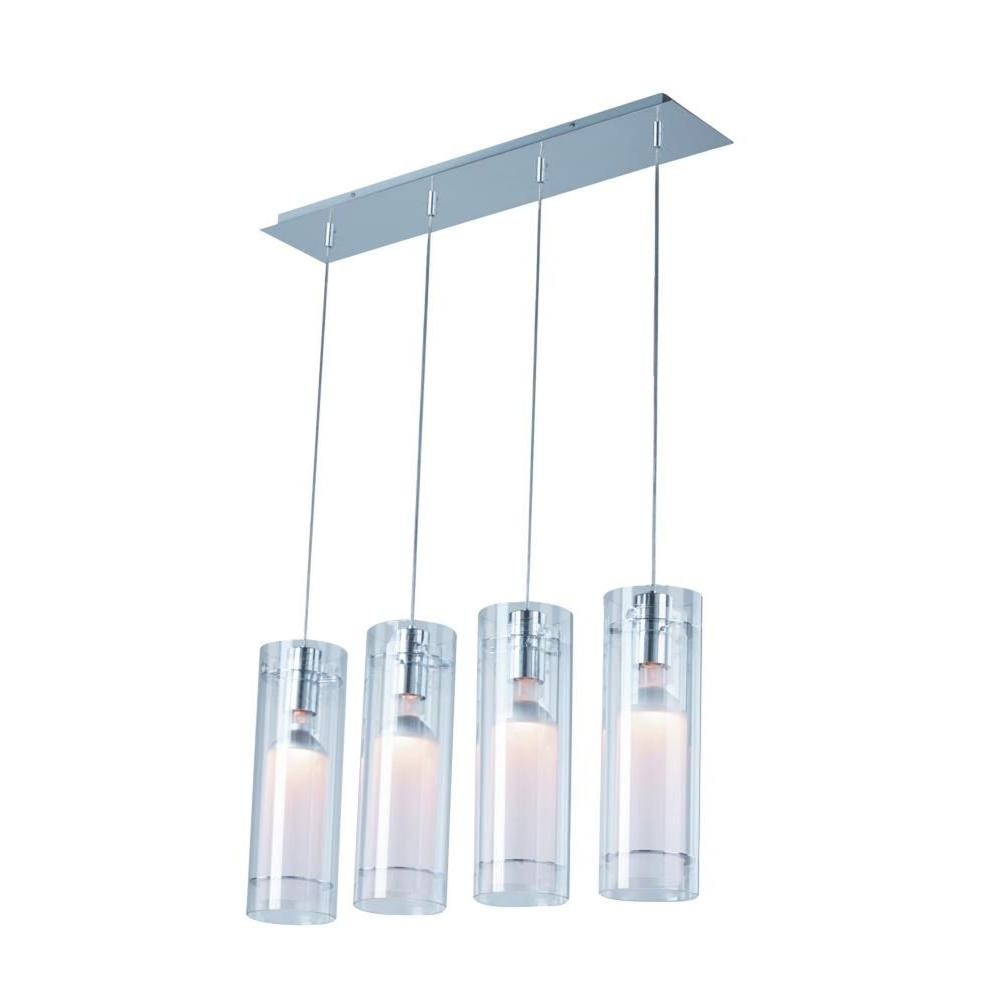 Frost 4-Light Polished Chrome Pendant