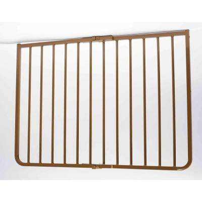 30 in. H x 27 in. to 42.5 in. W x 2 in. D Outdoor Safety Gate in Brown