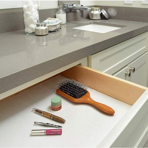 Con Tact Grip Prints White Shelf Drawer, Kitchen Cabinet Shelf Liner Home Depot