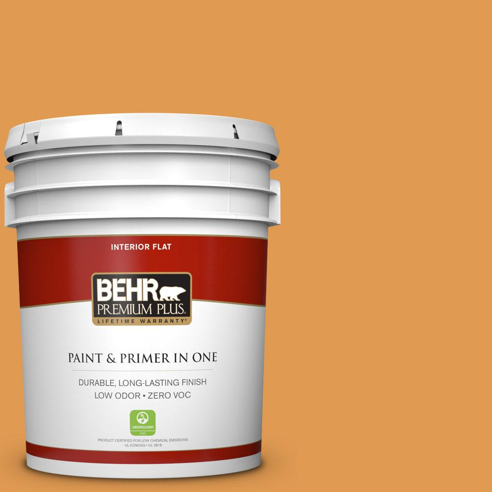 5 gal. #290D-5 Apple Crisp Zero VOC Flat Interior Paint