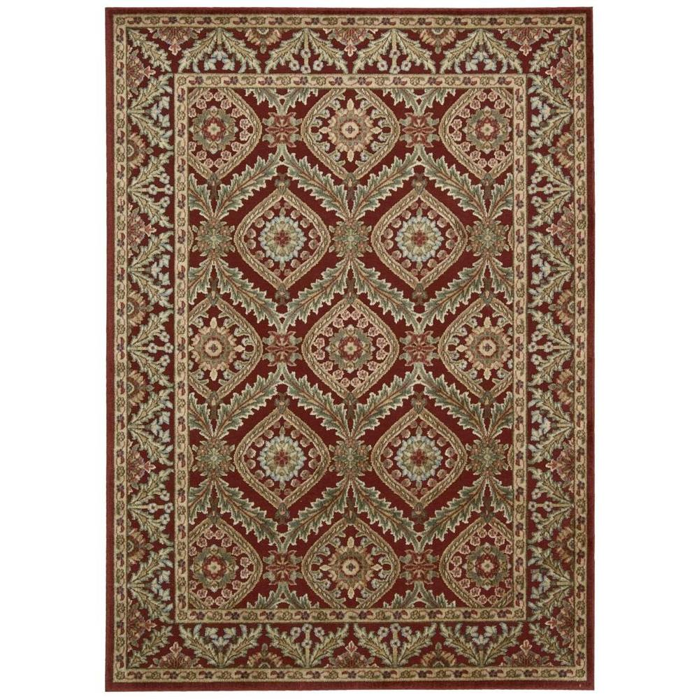 Overstock Area Rugs: Nourison Overstock Graphic Illusions Red 5 Ft. 3 In. X 7