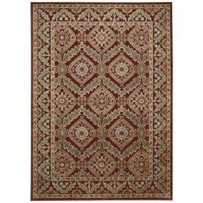 Graphic Illusions Red 8 ft. x 11 ft. Area Rug