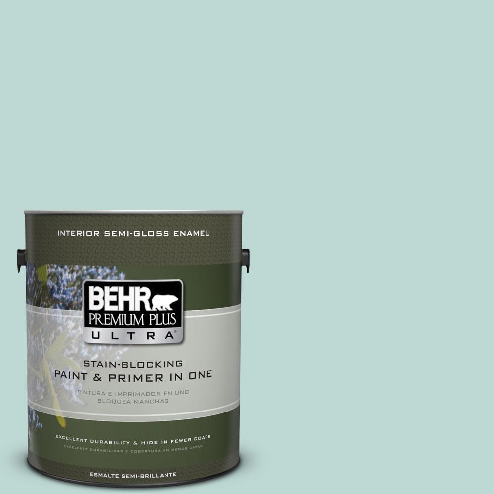 BEHR Premium Plus Ultra 1-gal. #M440-2 Serene Breeze Semi-Gloss Enamel Interior Paint