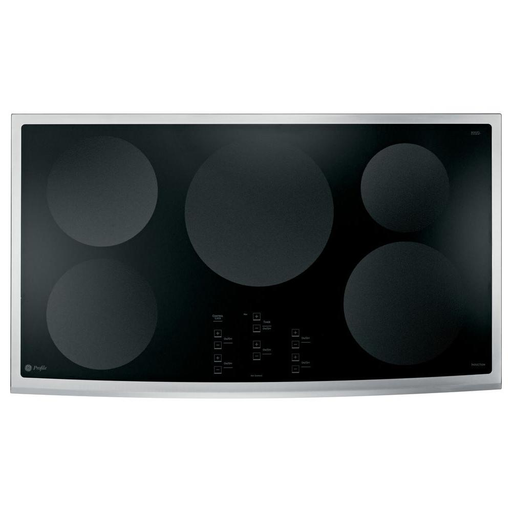 GE Profile 36 in. Smooth Top Electric Induction Cooktop in Stainless Steel with 5 Elements