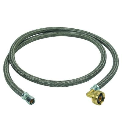 3/8 in. Compression x 3/4 in. Garden Hose Swivel Elbow x 60 in. Braided Polymer Dishwasher Connector