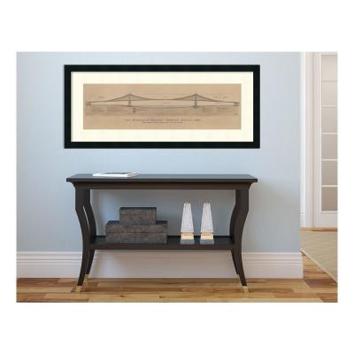 40 in. x 17 in. Outer Size 'Brooklyn Bridge' by Craig S. Holmes Framed Art Print