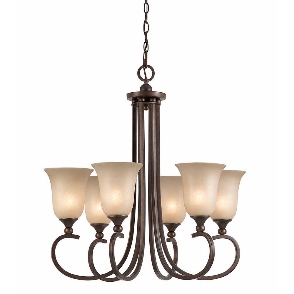 Lumenno International Purelife 6-Light Bronze Chandelier