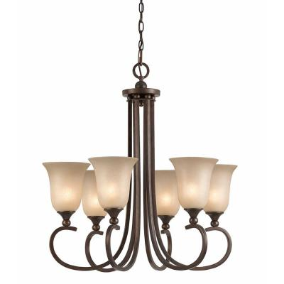 Purelife 6-Light Bronze Chandelier
