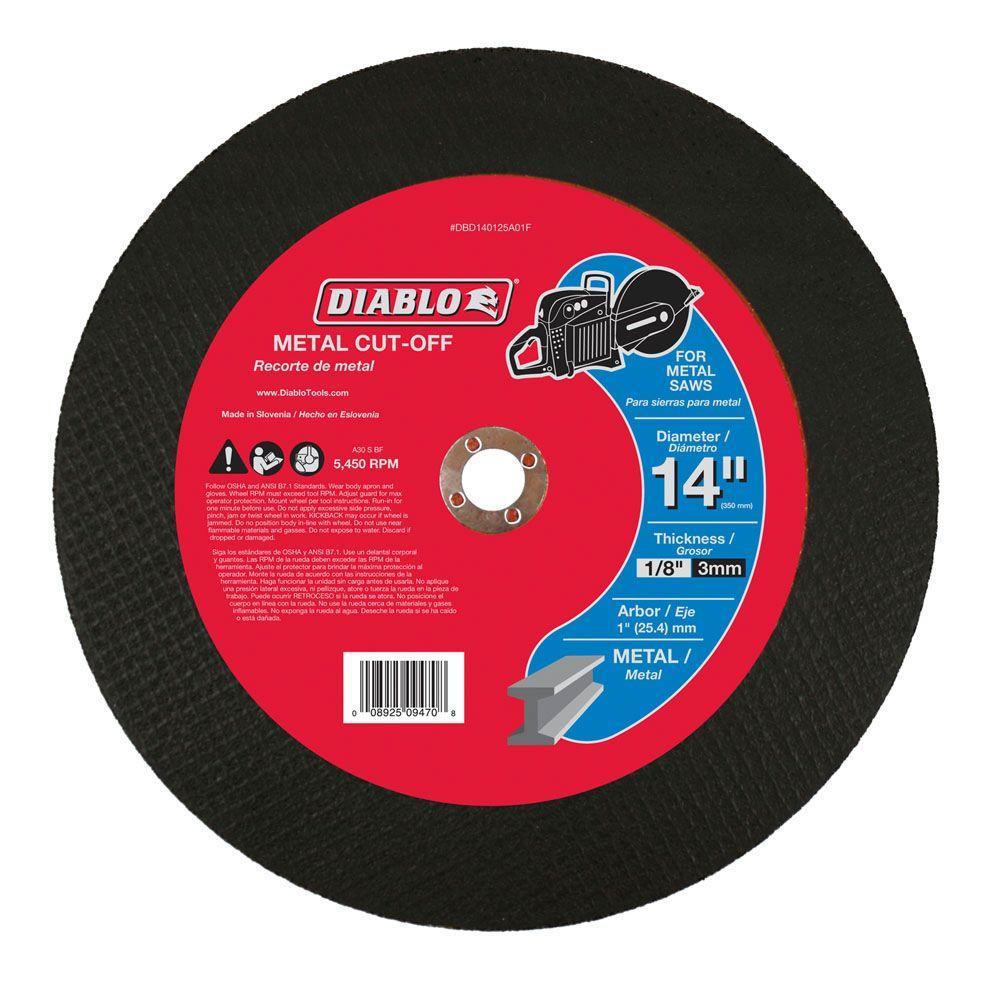 Diablo 14 in. x 1/8 in. x 1 in. Metal High Speed Cut-Off Disc