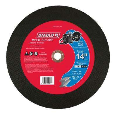 14 in. x 1/8 in. x 1 in. Metal High Speed Cut-Off Disc