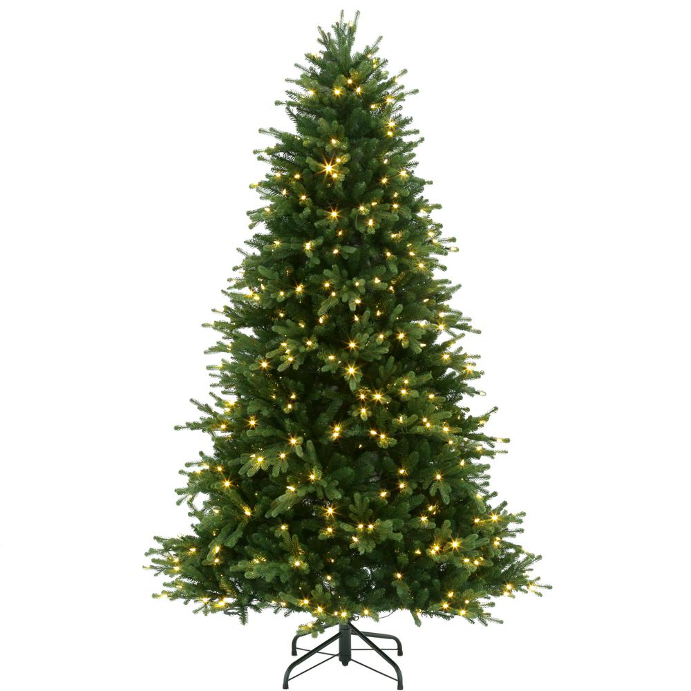 pre lit led natural noble fir artificial christmas tree with color changing