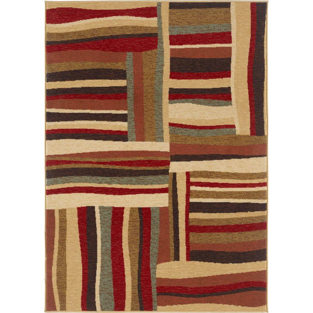 Tayse Rugs Laguna Multi 7 ft. 6 in. x 9 ft. 10 in. Contemporary Area Rug