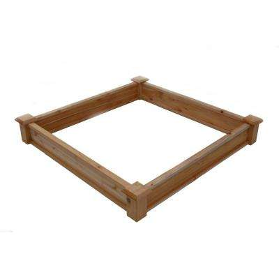 4 ft. x 4 ft. x 7 in. Wooden Square Sandbox
