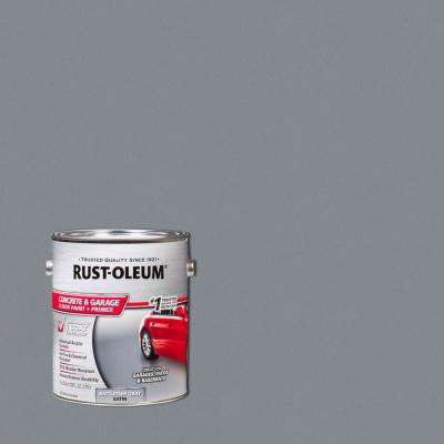 1 gal. Battleship Gray Satin Concrete Floor Interior/Exterior Paint (2-Pack)