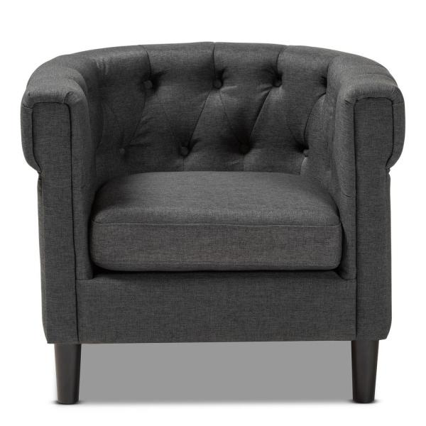 Baxton Studio Bisset Charcoal Fabric Accent Chair 154-9511-HD