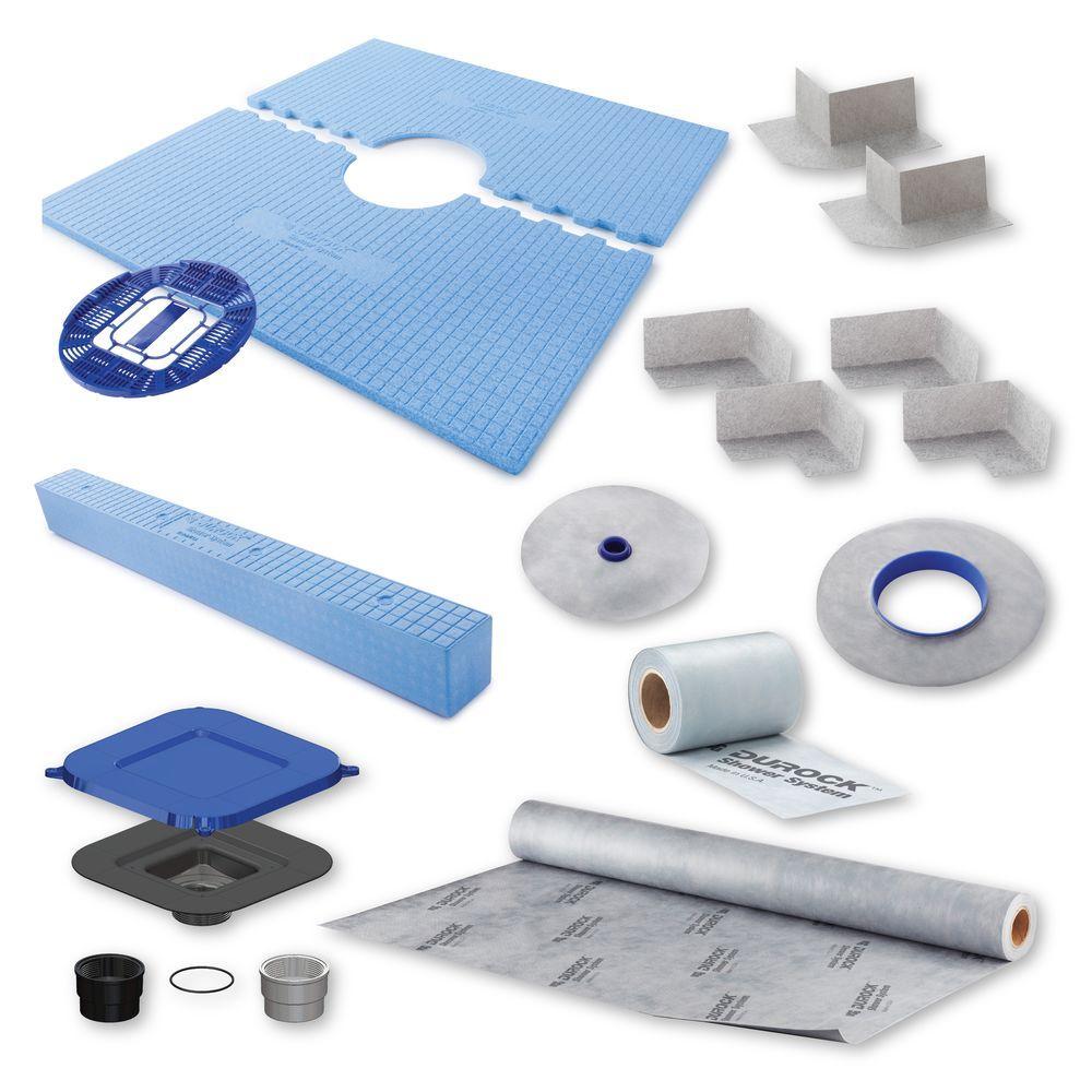 USG Durock Brand 48 in. x 48 in. Shower Kit with Center Drain