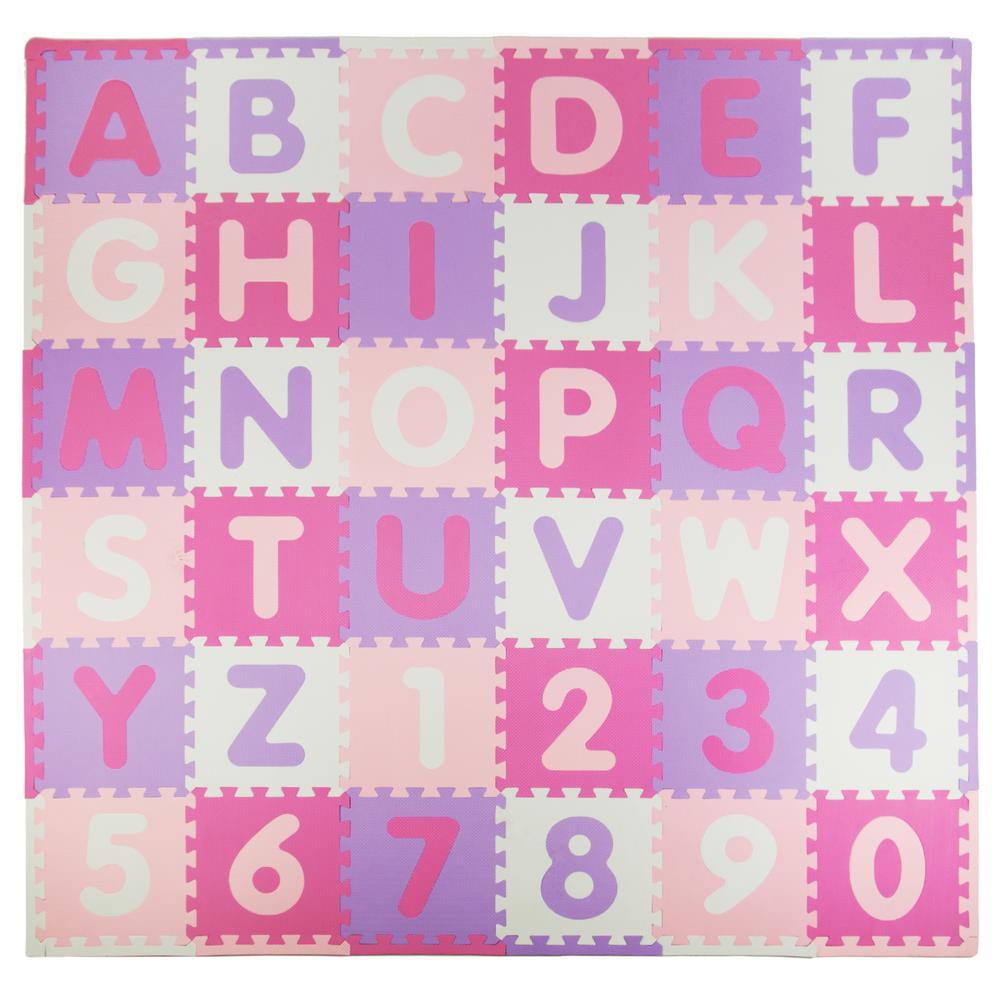 Tadpoles Pink Purple 72 In X 72 In Residential Floor Mat