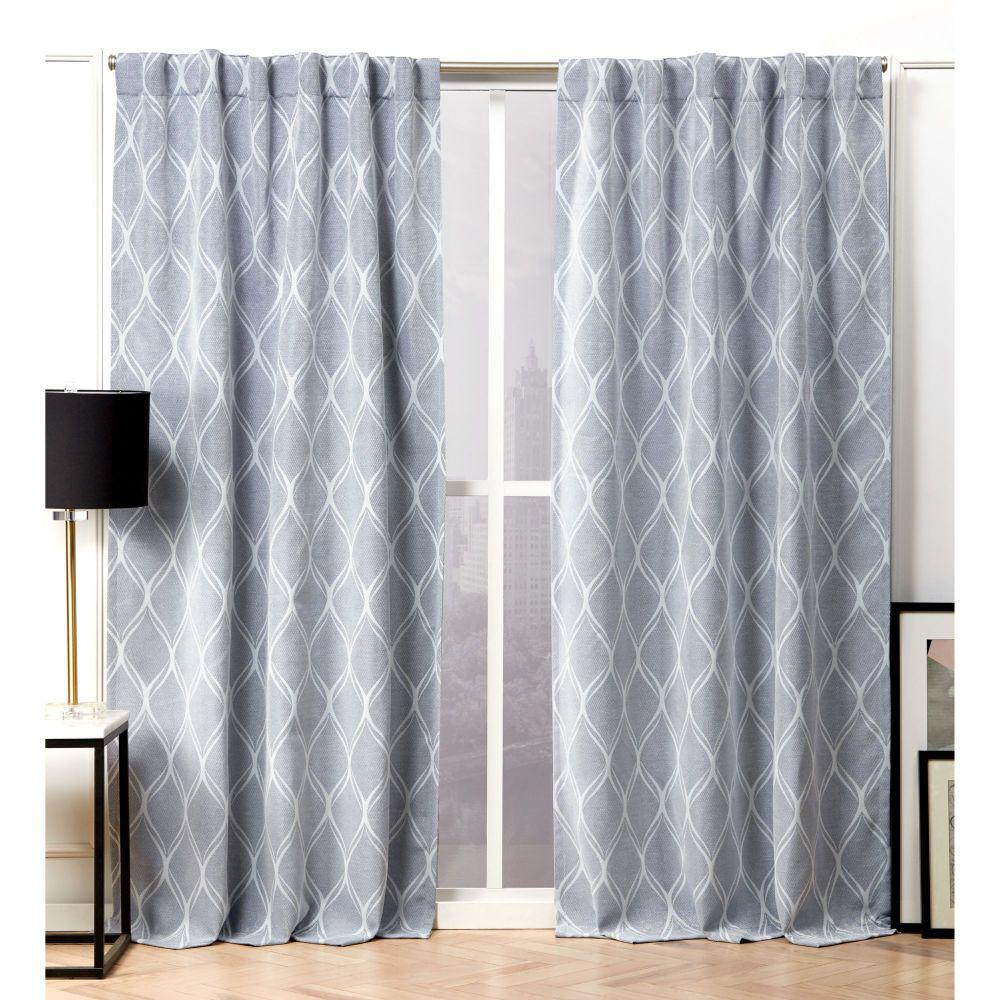Blue Chambray Curtain Panels