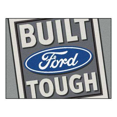 Built Ford Tough Grey 3 ft. x 3 ft. 6 in. Indoor Accent Rug