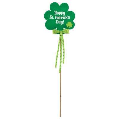 Shamrock 24 in. St. Patrick's Day Yard Stake (4-Pack)