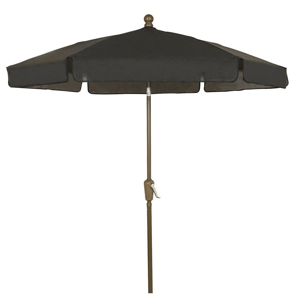 Fiberbuilt umbrellas 7 5 ft patio umbrella in black for Best outdoor umbrellas reviews