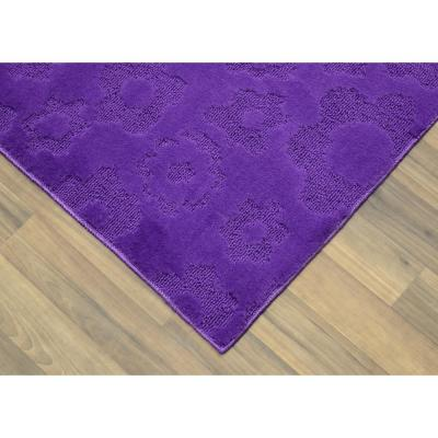 Flowers Purple 5 ft. x 7 ft. Area Rug