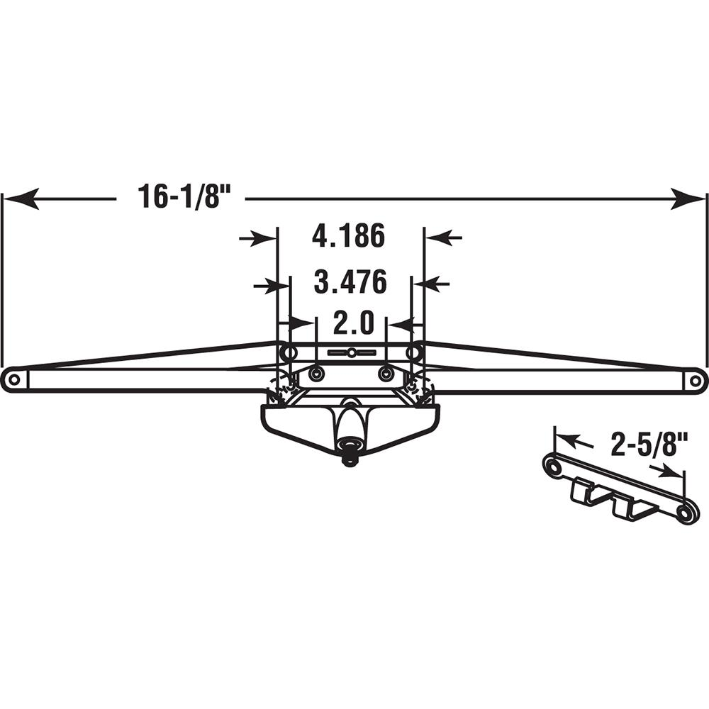 "16-1//8/"" Bronze Roto Gear Awning Window Operator"
